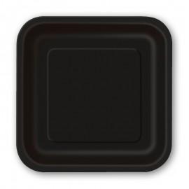 8 Assiettes Carrés en Carton 23 cm