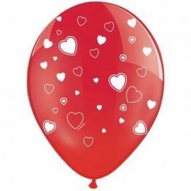 Ballons Rouges Avec des Coeurs