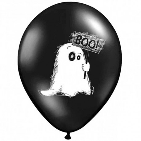 6 Ballons Fantôme 30 cm