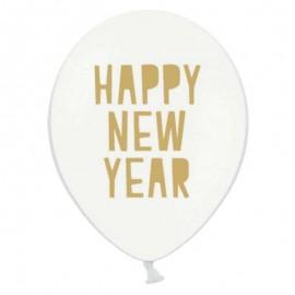 6 Ballons Happy New Year 30 cm