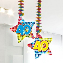 Suspensions 40 Formes Etoiles Multicolores