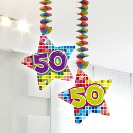 2 Pendentifs 50 Multicolores Forme Etoile