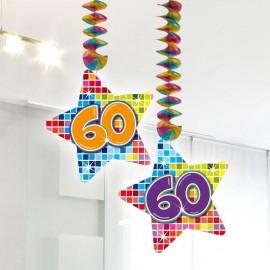 2 Pendentifs 60 Multicolores Forme Etoile