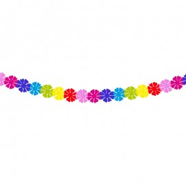 Guirlande Fleurie Multicolore 2 mètres