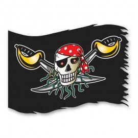 Drapeau Crâne Pirate 90 cm x 60 cm