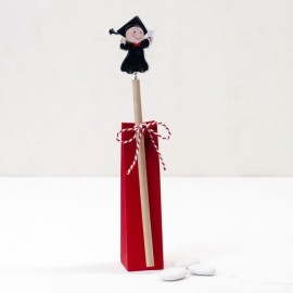 Crayon en Bois Garçon Gradué 24 centimètres avec 3 Chocolats