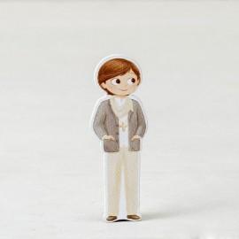 10 Figurines Garçon avec Foulard 2D Adhésive 5,5 cm