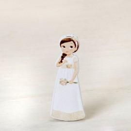 10 Figurines Fille Romantique 2D Adhésive 5,5 cm