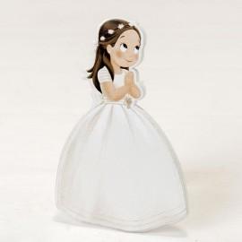 6 Figurines Fille avec Couronne 2D Adhésive 11 cm