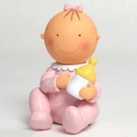 Figurine pour Gâteaux et Tirelire Bébé Assis et Biberon