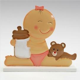 Figurine pour Gâteau de Bébé avec Biberon 15 cm