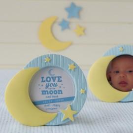 Cadre Photo pour Bébé avec Lune et Étoiles