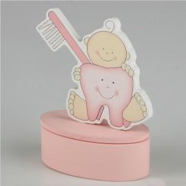 6 Boîte pour Dents de Bébés 6,5 cm x 9 cm