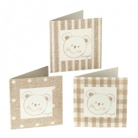 102 Cartes Ours avec Taupe, Rayures et Images