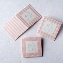 102 Cartes Biberon avec Rayures et Image