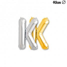 Ballon Mylar Lettre K 40 cm