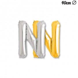 Ballon Mylar Lettre N 40 cm