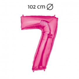 Ballon 102 cm em Mylar Chiffre 7
