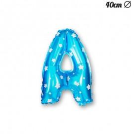Ballon Lettre A Bleu Avec Etoiles 40 cm