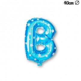Ballon Lettre B Bleu Avec Etoiles 40 cm