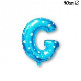 Ballon Lettre G Bleu Avec Etoiles 40 cm