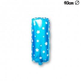 Ballon Lettre I Bleu Avec Etoiles 40 cm