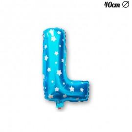 Ballon Lettre L Bleu Avec Etoiles 40 cm