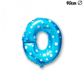 Ballon Lettre O Bleu Avec Etoiles 40 cm