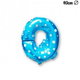 Ballon Lettre Q Bleu Avec Etoiles 40 cm