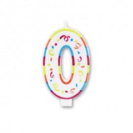 Grande Bougie Colorée Numéro 0