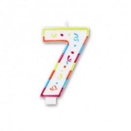 Grande Bougie Colorée Numéro 7