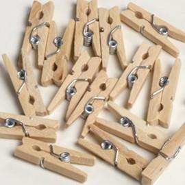 100 Mini Pinces Naturelles 2,5 cm