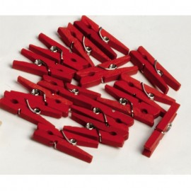 100 Mini Pinces Rouges 2,5 cm