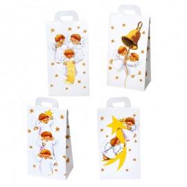 24 Boîtes avec Anges 4 Modèles Assortis 8 x 17,5 x 5,3 cm