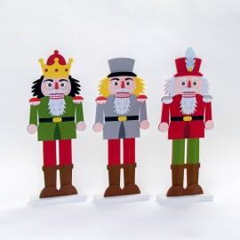 3 Figurines de Soldat en Tissu 44 cm