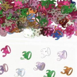 Confettis Numéro 30 Multicolores