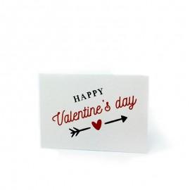 5 Cartes Pré-Découpées Happy Valentines 5 x 3,5 cm