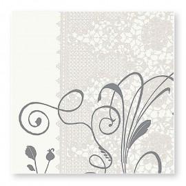 20 Serviettes avec Motifs Fleurs 33 cm x 33 cm