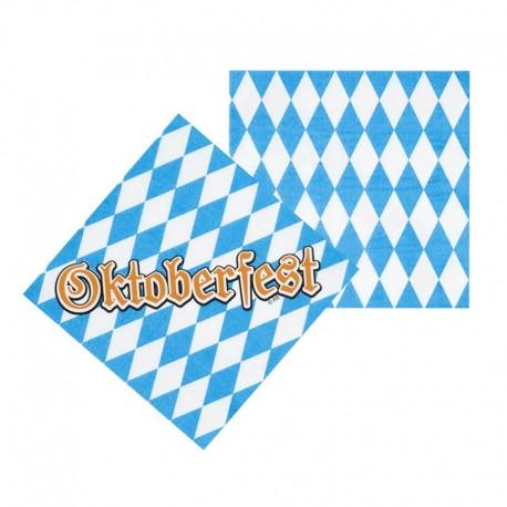 12 Serviettes Oktoberfest 33 cm