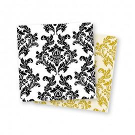 20 Serviettes Overprint Fond Blanc 33 cm