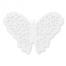 10 Papillons En Papier 14 cm