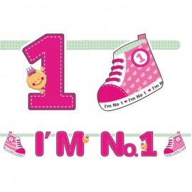 Fanion I'm Nº1 Pour Fille 16 x 110 cm
