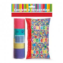 Sac De Confettis Avec 20 Serpentins