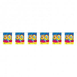 Fanions 50 ans avec Tourbillons