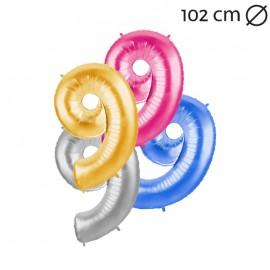 Ballon 102 cm en Mylar Chiffre 9