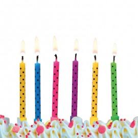 6 Bougies à Pois Pour Anniversaire