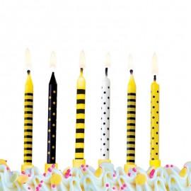 6 Bougies Pour Anniversaire Motifs Variés