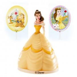 Kit avec Brochettes Princesse Belle pour Gateaux