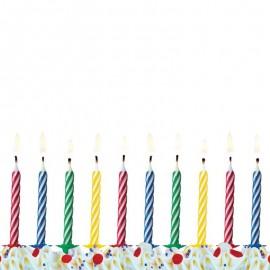 10 Bougies Pour Anniversaire Avec Rayures