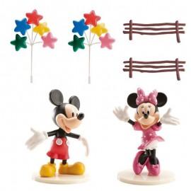 Kit Décoration Mickey & Minnie pour Gâteau